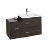 American Imaginations 37-in. W x 17-in. D Modern Wall Mount Plywood-Melamine Vanity Base Only In Dawn Grey
