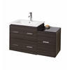 American Imaginations 37-in. W x 18-in. D Modern Wall Mount Plywood-Melamine Vanity Base Only In Dawn Grey