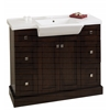 American Imaginations 40-in. W x 18-in. D Birch Wood-Veneer Vanity Set In Walnut