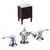 American Imaginations Birch Wood-Veneer Vanity Set In Antique Walnut With 8-in. o.c. CUPC Faucet