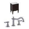 Birch Wood-Veneer Vanity Set In Antique Walnut With 8-in. o.c. CUPC Faucet