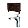 48-in. W x 18-in. D Birch Wood-Veneer Vanity Set In Walnut With Single Hole CUPC Faucet
