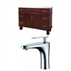 48-in. W x 18-in. D Birch Wood-Veneer Vanity Set In Antique Cherry With Single Hole CUPC Faucet
