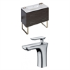 American Imaginations 36-in. W x 18-in. D Plywood-Melamine Vanity Set In Dawn Grey With Single Hole CUPC Faucet