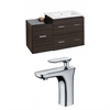 American Imaginations 38-in. W x 18-in. D Plywood-Melamine Vanity Set In Dawn Grey With Single Hole CUPC Faucet