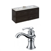 American Imaginations 48-in. W x 18-in. D Plywood-Melamine Vanity Set In Dawn Grey With Single Hole CUPC Faucet