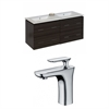 48-in. W x 18-in. D Plywood-Melamine Vanity Set In Dawn Grey With Single Hole CUPC Faucet