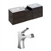 62-in. W x 18.5-in. D Plywood-Melamine Vanity Set In Dawn Grey With Single Hole CUPC Faucet