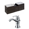 American Imaginations 62-in. W x 18.5-in. D Plywood-Melamine Vanity Set In Dawn Grey With Single Hole CUPC Faucet
