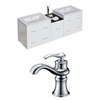 62-in. W x 18.5-in. D Plywood-Veneer Vanity Set In White With Single Hole CUPC Faucet