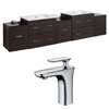 90-in. W x 18-in. D Plywood-Melamine Vanity Set In Dawn Grey With Single Hole CUPC Faucet