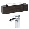 76-in. W x 18.5-in. D Plywood-Melamine Vanity Set In Dawn Grey With Single Hole CUPC Faucet