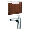40-in. W x 18-in. D Birch Wood-Veneer Vanity Set In Cherry With Single Hole CUPC Faucet