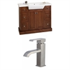American Imaginations 40-in. W x 18-in. D Birch Wood-Veneer Vanity Set In Cherry With Single Hole CUPC Faucet