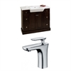 40-in. W x 18-in. D Birch Wood-Veneer Vanity Set In Walnut With Single Hole CUPC Faucet
