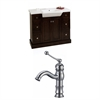 American Imaginations 40-in. W x 18-in. D Birch Wood-Veneer Vanity Set In Walnut With Single Hole CUPC Faucet