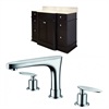 50-in. W x 22-in. D Birch Wood-Veneer Vanity Set In Dark Mahogany With 8-in. o.c. CUPC Faucet