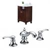 24-in. W x 22-in. D Birch Wood-Veneer Vanity Set In Coffee With 8-in. o.c. CUPC Faucet