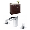 36-in. W x 22-in. D Birch Wood-Veneer Vanity Set In Coffee With 8-in. o.c. CUPC Faucet