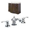 48-in. W x 22-in. D Birch Wood-Veneer Vanity Set In Walnut With 8-in. o.c. CUPC Faucet
