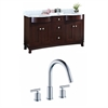 60-in. W x 22-in. D Birch Wood-Veneer Vanity Set In Coffee With 8-in. o.c. CUPC Faucet