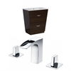 Plywood-Melamine Vanity Set In Wenge With 8-in. o.c. CUPC Faucet