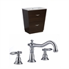 American Imaginations Plywood-Melamine Vanity Set In Wenge With 8-in. o.c. CUPC Faucet