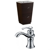 American Imaginations Plywood-Melamine Vanity Set In Wenge With Single Hole CUPC Faucet