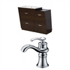 Plywood-Melamine Vanity Set In Wenge With Single Hole CUPC Faucet