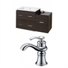 38-in. W x 18-in. D Plywood-Melamine Vanity Set In Dawn Grey With Single Hole CUPC Faucet