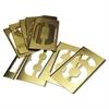 15-Piece Single-Number Brass Stencil Set
