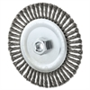 "Stringer Bead Wheel Brush, 6"" Diameter, .02"" Wire, 5/8-11 TPI"