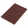 "3M Scotch-Brite Hand Pads, Brown, 9"" x 6"""