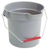 Brute Round Bucket, 10qt, Gray