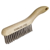 Shoe Handle Scratch Brush, 4 x 16 Rows, Stainless Steel Wire