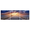 Pier Sunrise Mounted Photography Print Triptych Multi