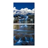 Cobalt Cascades Mounted Photography Print Diptych Multi