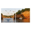 Stone Arches Mounted Photography Print Diptych Multi