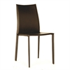 Rockford Modern and Contemporary Taupe Bonded Leather Upholstered Dining Chair Brown