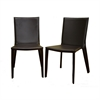 Semele Dark Brown Leather Dining Chair