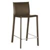 Crawford Brown Leather Counter Height Stool
