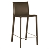 Crawford Brown Leather Bar Stool