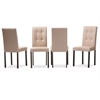 Andrew Modern and Contemporary Beige Fabric Upholstered Grid-tufting Dining Chair