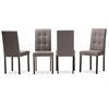 Andrew Modern and Contemporary Grey Fabric Upholstered Grid-tufting Dining Chair