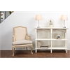 Touraine Wood Traditional French Accent Console Drapier White/Light Brown