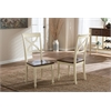 "Ashton Modern Country Cottage Buttermilk and ""Walnut"" Brown Finishing Wood Dining Chair Cream/""Walnut' Brown"