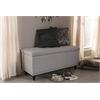 Kaylee Modern Classic Grayish Beige Fabric Upholstered Button-Tufting Storage Ottoman Bench