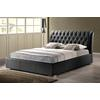Bianca Black Modern Bed with Tufted Headboard - Full Size
