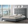 Hirst Gray Platform Bed— King Size With Bench Grey