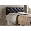 Baltimore Modern and Contemporary Queen Black Faux Leather Upholstered Headboard